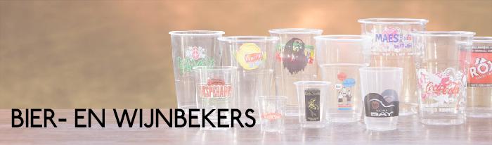 Bier- en wijnbekers