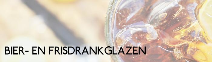 Bierglazen en frisdrankglazen