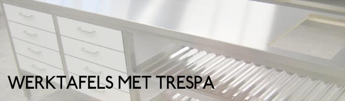 Werktafels met Trespa