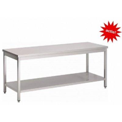 RVS Werktafel met bodemschap 1000x700x900
