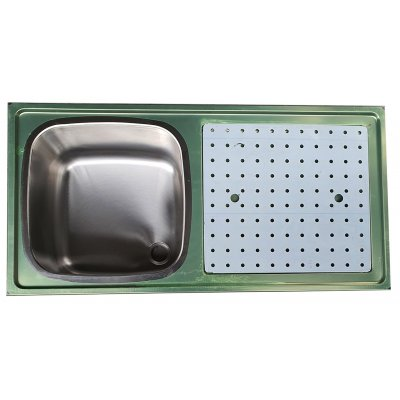 Showroommodel glazenspoelblad 100x50 cm