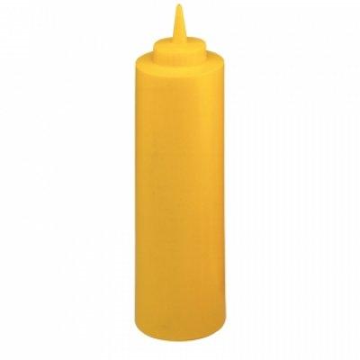 Portioneer knijpfles 68cl geel