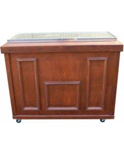 Te huur: Mobiel houten koelbuffet Pubstijl