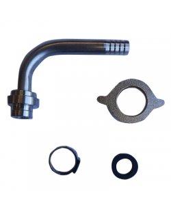 aansluitset 5/8 wartel gebogen tule voor 8.5 mm bierleiding