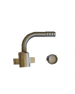 Aansluitset 3/8 gebogen tule voor de 8.5x12.7 mm leiding