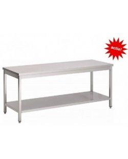 RVS Werktafel met bodemschap 700x700x900