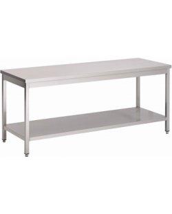 RVS Werktafel met bodemschap 2000x700x900