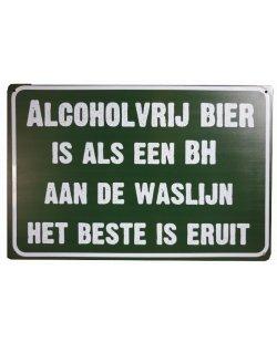 Alcoholvrij Bier als een BH reclamebord