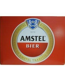 Amstel bier logo metalen pubbord