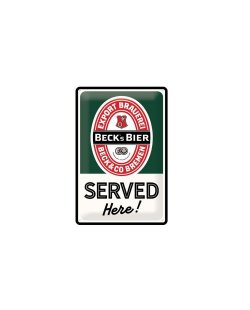 Beck's served here reclamebord relief