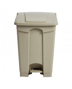 Beige pedaal afvalbak