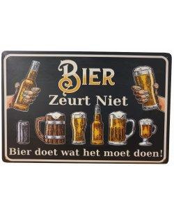 Bier zeurt niet Reclamebord
