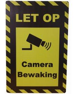 Camera Bewaking let op reclamebord