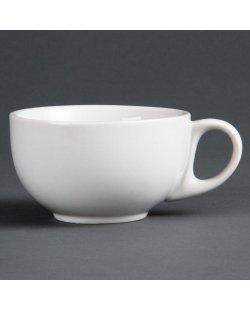 Cappuccinokop en schotel