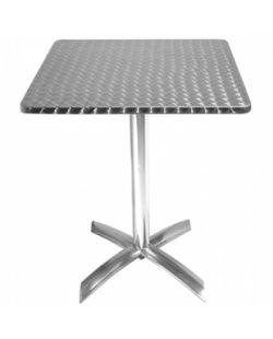 RVS vierkante tafel opklapbaar