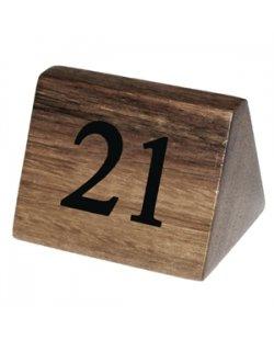 Olympia houten tafelnummers