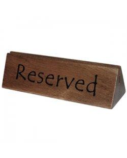 Houten reserveerbordje/menuhouder