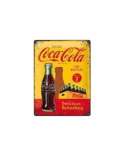 Coca Cola delicious refreshing reclamebord relief 40x30 cm