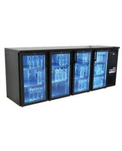 Serrco Combi Line Flessenkoeler, 4 deurs (glas)
