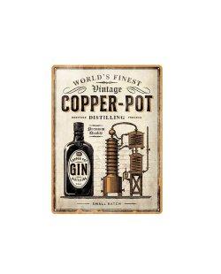 Copper-Pot reclamebord relief 40x30 cm