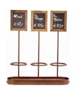 Wijnfles display drievoudig