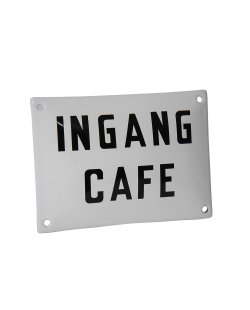 Emaille reclamebord: Ingang Café