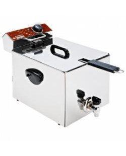 Diamond elektrische friteuse tafelmodel 8 liter incl. aftapkraan