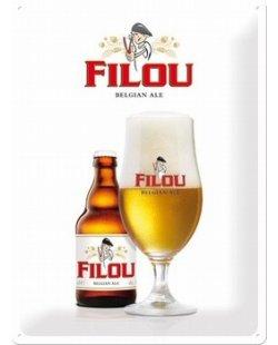 Filou belgische bier reclamebord