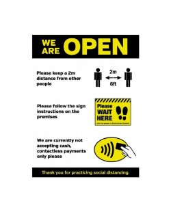PVC poster 'We are open'