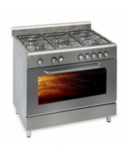 5 pits gasfornuis met elekr. oven