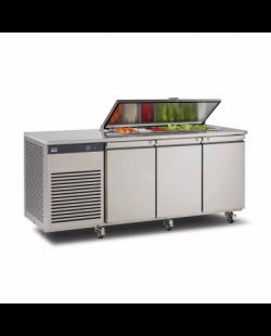 Foster EcoPro G2 1/3 koelwerkbank met saladette-optie en afsluitbare deksel