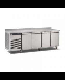 Foster EcoPro G2 1/4 koelwerkbank met 100 mm spatrand 4-deurs