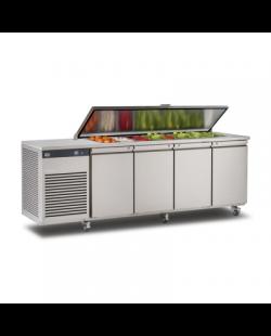 Foster EcoPro G2 1/4 koelwerkbank met saladette-optie en afsluitbare deksel