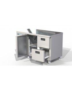 Foster Xtra 1/2 koelwerkbank 280 liter met 1 deur en 2 lades