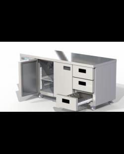 Foster Xtra 1/3 koelwerkbank met 2 deuren en 3 lades