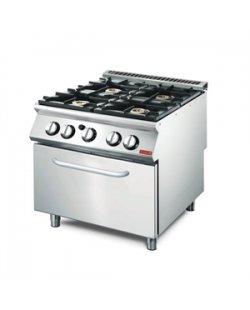 GastroM Gasfornuis met gas oven 700 lijn
