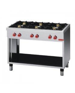 GastroM Gaskooktafel met 6 branders 650 lijn