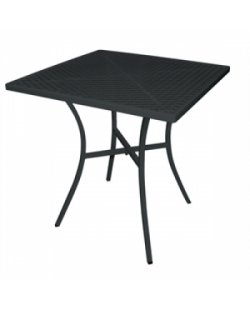 Vierkante stalen bistro tafel