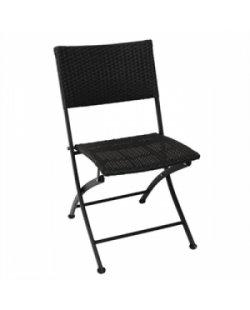 Opklapbare rotan stoel