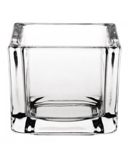 Olympia glazen theelichthouders vierkant