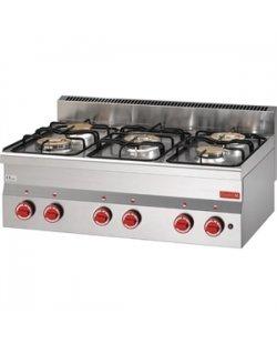 Gastro-M gaskooktoestel met 5 branders 600 lijn