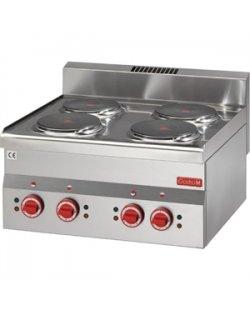 Gastro-M elektrische kookplaat met 4 kookplaten 600 lijn