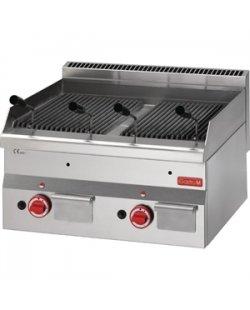 Gastro-M gas lavasteen grill 600 lijn