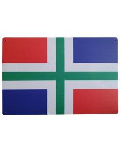 Groningse vlag reclamebord