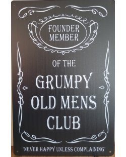 Grumpy old mens club reclamebord