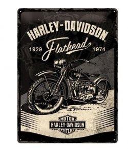 Harley-davidson reclamebord Flathead