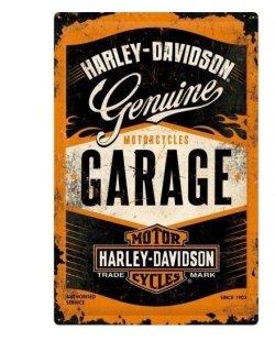 Harley-davidson reclamebord genuine garage