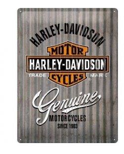 Harley-davidson reclamebord genuine motorcycles