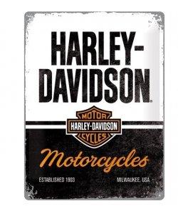 Harley-davidson reclamebord Motorcycles established 1903