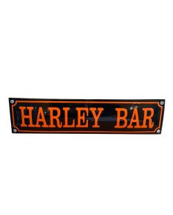 Emaille reclamebord: Harley Bar